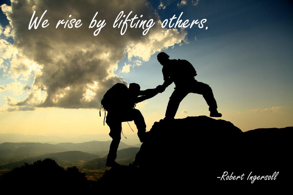 help climbers sunset